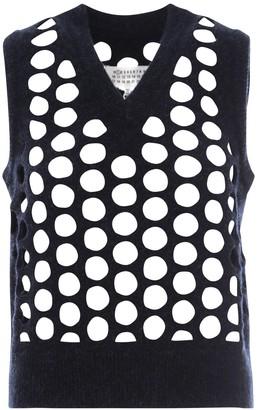 Maison Margiela Punched Holes Knit Vest