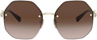 Bulgari geometric sunglasses