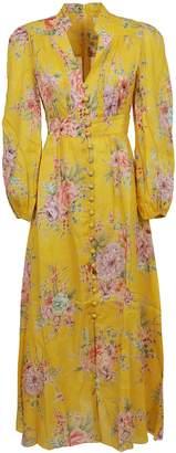 Zimmermann Zinnia Button Front Long Dress