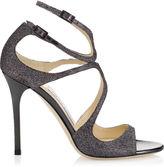 Jimmy Choo LANG Light Bronze Lamé Glitter Sandals