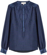 Paul & Joe Sheer Panel Striped Silk Blouse