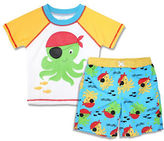 Solo Swim Octopus Rash Guard And Shorts Two-Piece Set