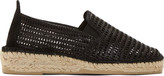 Prism Black Leather Mesh Marroca Espadrilles