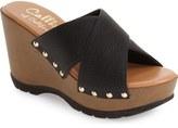 Callisto 'Cinnamon' Crisscross Platform Wedge Sandal (Women)