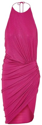 Fuchsia Embellished Halter Dress