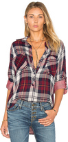 Bella Dahl Rosslyn Double Plaid Pullover Button Down
