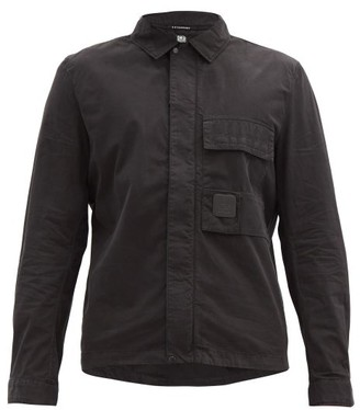 C.P. Company Chest-pocket Zip-front Cotton Overshirt - Black