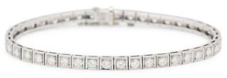 Stephanie Windsor Art Deco Platinum & Diamond Line Bracelet