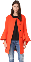 Milly Flare Sleeve Tie Coat