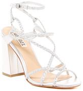 Silver Block Sandals - ShopStyle
