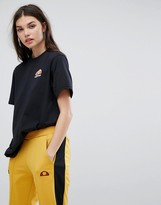 Ellesse Oversized Boyfriend Tee With Washed Out Logo