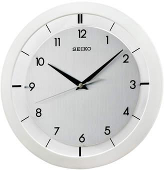Seiko White Resin Wall Clock