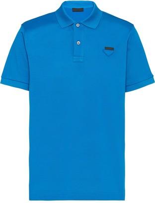 Prada Logo Detail Polo Shirt