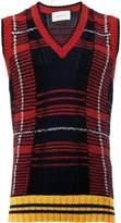 Gucci knit tartan vest