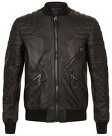 Philipp Plein Loyal Leather Bomber Jacket
