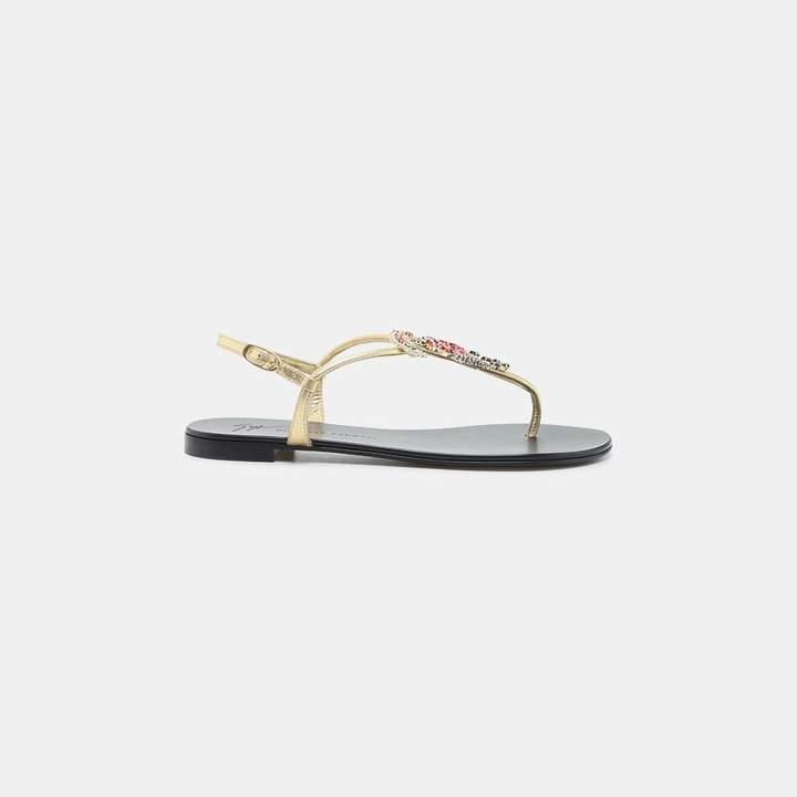 Giuseppe Zanotti Embellished Thong Sandal