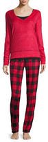 Flirtitude Fleece Pant Pajama Set-Juniors