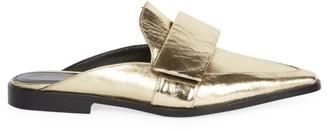 Dries Van Noten Metallic Leather Slide Loafers