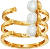 Rebecca Minkoff Two-Tone Bead Wrap Ring