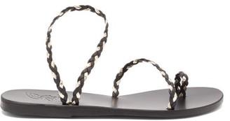 Ancient Greek Sandals Eleftheria Braided Leather Sandals - Black Gold