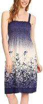 Purple Grasses Smocked Midi Dress