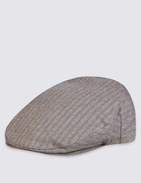 Marks And Spencer Marks And Spencer Cotton Rich Herringbone Flat Cap