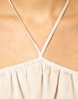 Asos Cami With Contrast Halter And Chunky Straps