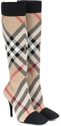 Burberry Vintage Check knee-high sock boots