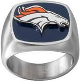 NFL Men's Stainless Steel Denver Broncos Ring