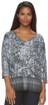 Gloria Vanderbilt Women's Embellished Summer Swirl Shirt