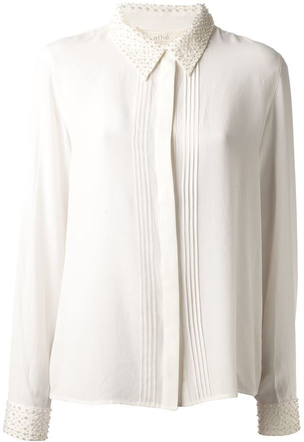 Vanessa Bruno pearl collar blouse