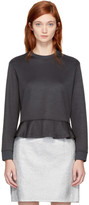 Carven Grey Ruffled Sweatshirt
