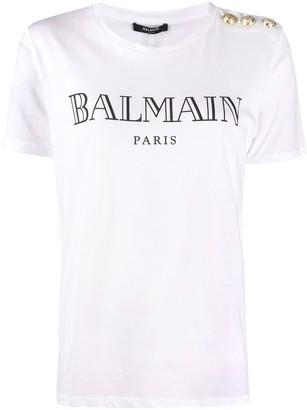 Balmain logo-print slim-fit T-shirt