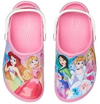 Crocs Fun Lab Disney Princesstm Patch Clog (Toddler/Little Kid) (Pink Lemonade) Girl's Shoes