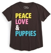 Chaser Girl's Peace, Love & Puppies Graphic Tee