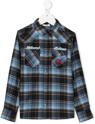 Dolce & Gabbana Kids Plaid Long-Sleeve Shirt
