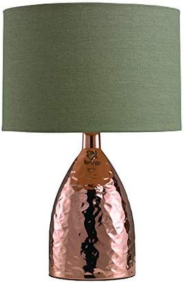 Village At Home Medina Touch Table Lamp, Shiny Bronze/Biscuit