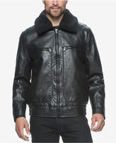 Andrew Marc Big & Tall Amherst Faux-Leather Aviator Jacket