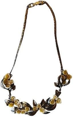 Bimba Y Lola Beige Gold plated Necklaces