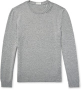 Saint Laurent - Distressed Wool And Cashmere-blend Sweater