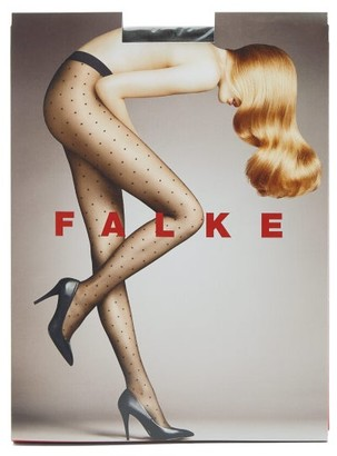 Falke Dot Transparent 15 Denier Tights - Grey
