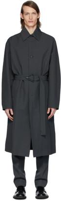 Bottega Veneta Grey Nylon Trench Coat