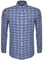 Ralph Lauren Checked Linen Shirt Blue