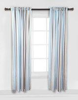 Bacati Diamonds & Stripes Aqua Curtain Panel