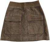 Doute Khaki Suede Skirts