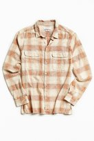 Urban Outfitters Eliso Bleached Shadow Plaid Flannel Button-Down Shirt