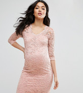 Mama Licious Mama.licious Mamalicious 3/4 Sleeve Lace Bodycon Dress