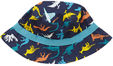 John Lewis Children's Dinosaur Print Bucket Hat, Blue