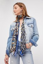Vintage Silk Tie Skinny Scarf by Debe Dohrer at Free People