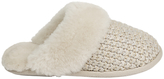 Just Sheepskin Knitted Mule Slippers, Natural